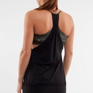 Lululemon | No Limits tank with camo built in bra